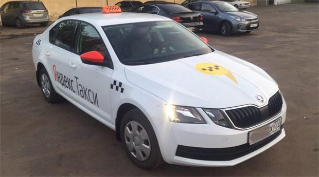 Пример оклейки под Яндекс Такси